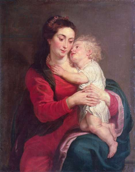 Virgin with Child (oil on canvas)