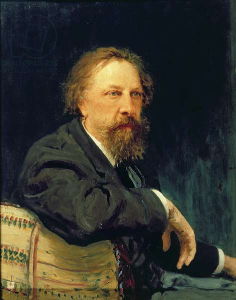 Portrait of the Author Count Alexey K. Tolstoy (1817-1875), 1896 (oil on canvas)