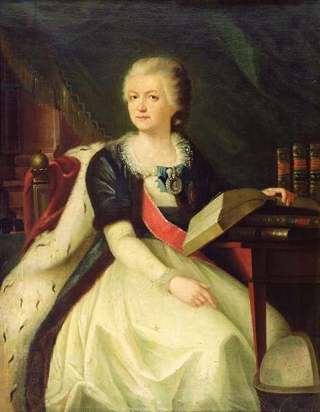 Portrait of Princess Yekaterina R. Vorontsova-Dashkova (oil on canvas)