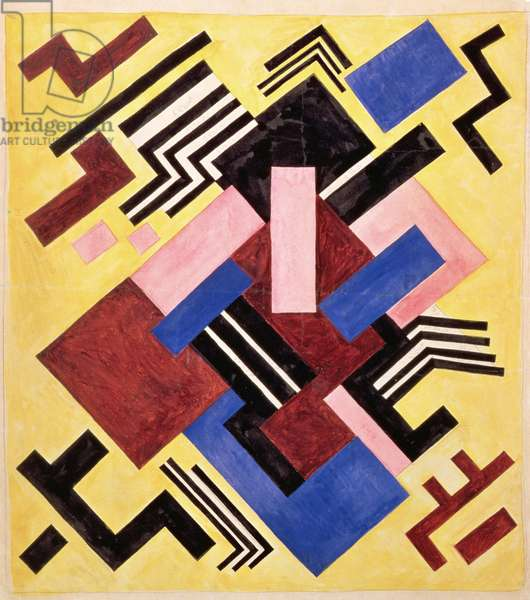 Pictorial Construction, 1916 (gouache on paper)