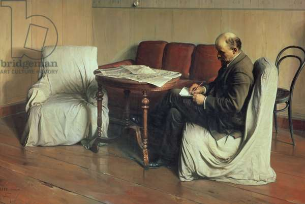 Vladimir Lenin (1870-1924) at Smolny, 1930 (oil on canvas)