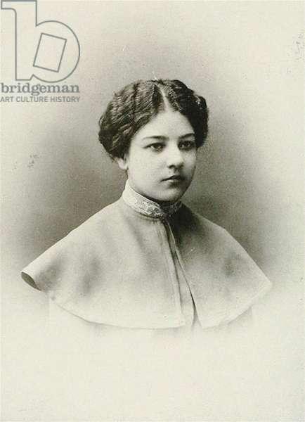 Olga Rozanova, c.1900 (b/w photo)