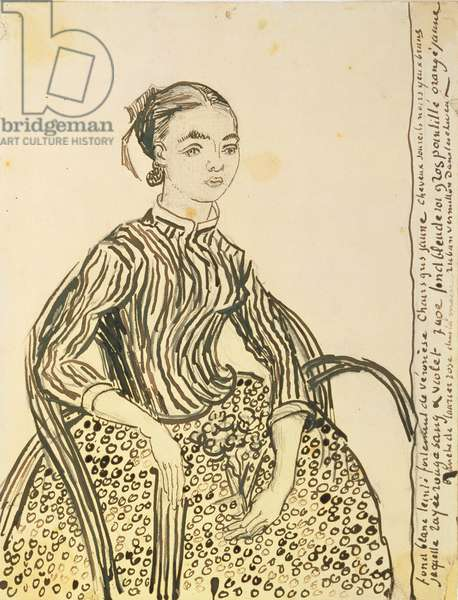Portrait of a Young Girl, 1888 (ink on paper)