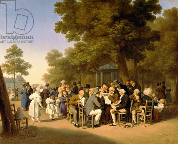 Politicians in the Tuileries Gardens, 1832 (oil on canvas)