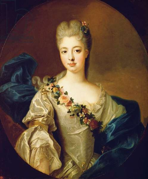 Portrait of Charlotte Aglae of Orleans, 1720s (oil on canvas)