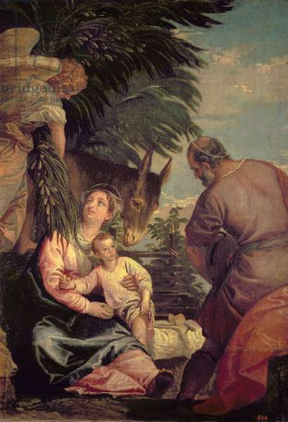 Rest on the Flight into Egypt (oil on canvas)