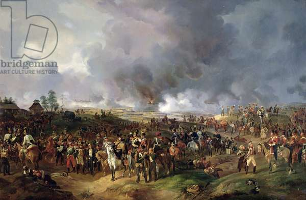 The Battle of the Nations of Leipzig, 1813 (oil on canvas)