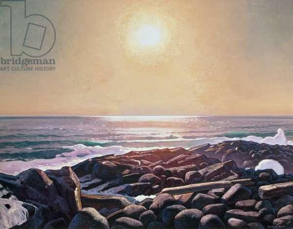 Sun on the Sea, Monhegan, Maine, 1910-11 (oil on canvas)