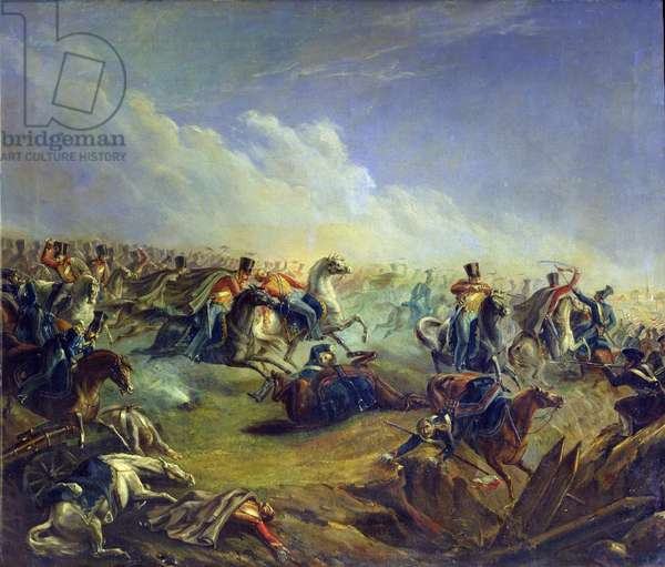 The Guard hussars attacking near Warsaw on August 26th, 1831, 1837 (oil on canvas)