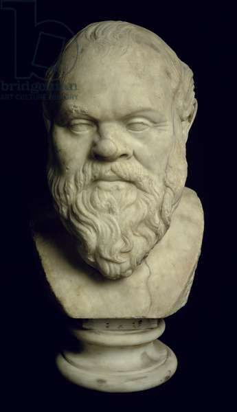 Bust of Socrates (469-399 BC) (marble) (see also 85228)