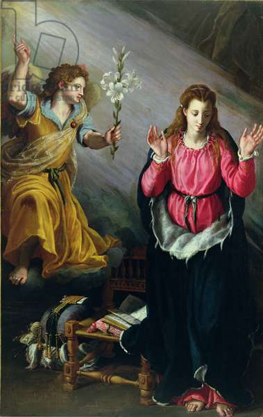 The Annunciation, 1603 (oil on panel)