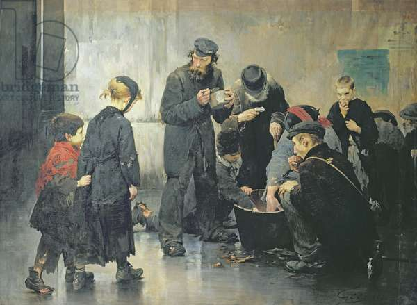 The Starving, 1886 (oil on canvas)