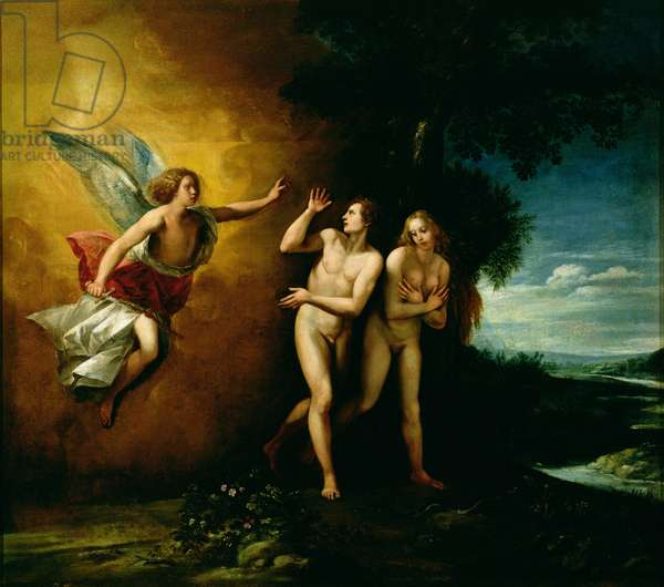 The Expulsion of Adam and Eve (oil on canvas)