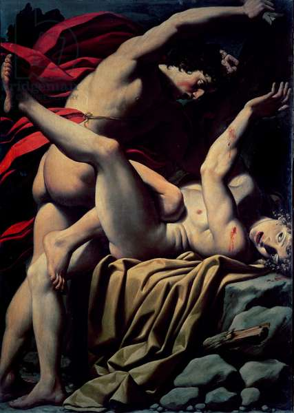 The Death of Abel (oil on canvas)