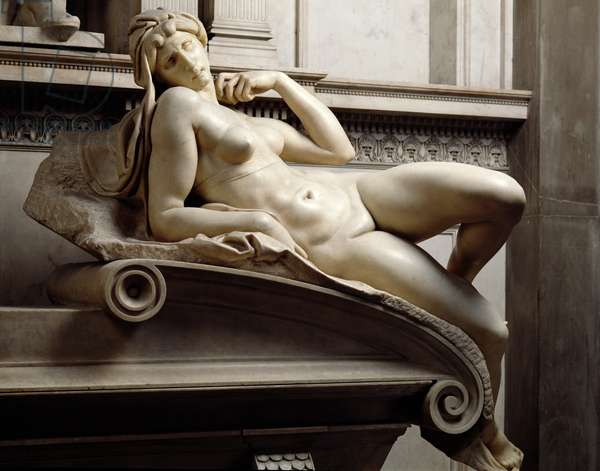 The Tomb of Lorenzo de Medici (1449-92) detail of Dawn, 1520-24 (marble)
