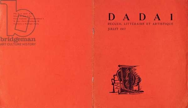 Front cover of 'Dada 1, recueil litteraire et artistique', July 1917