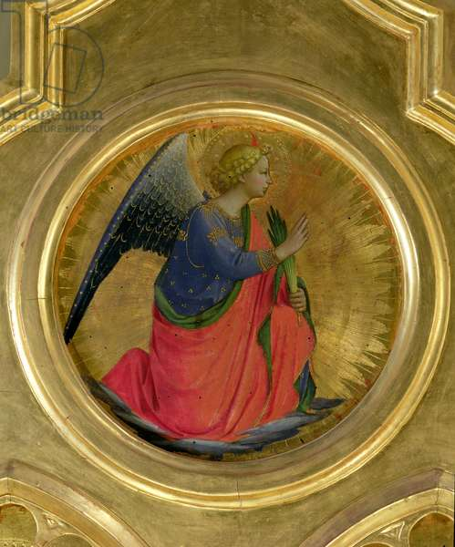 The Angel of the Annunciation from the altarpiece from the Chapel of San Niccolo dei Guidalotti in the Church of San Domenico in Perugia (tempera and gold leaf on panel)