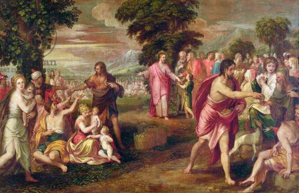 The Feeding of the Five Thousand (oil on canvas)