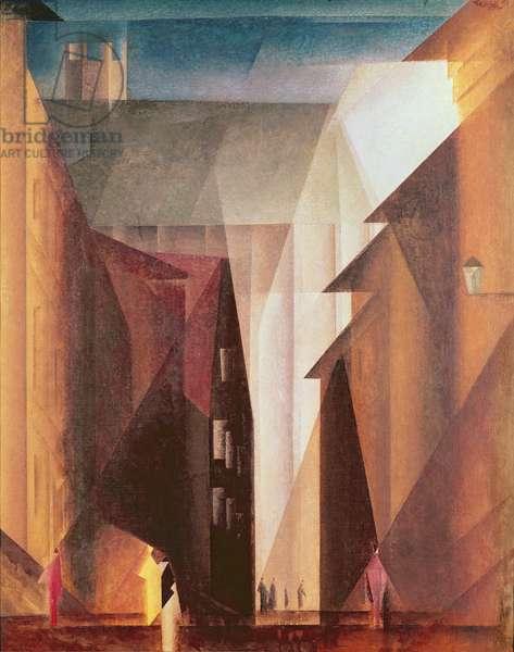 Barfuesserkirche I, 1924 (oil on canvas)
