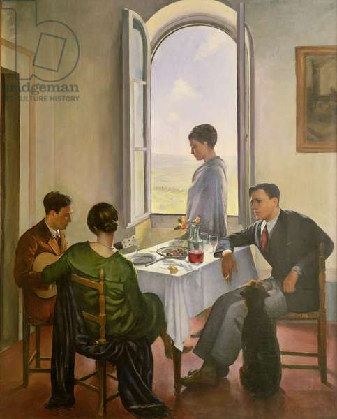 Afternoon in Fiesole, 1926-29 (oil on canvas)