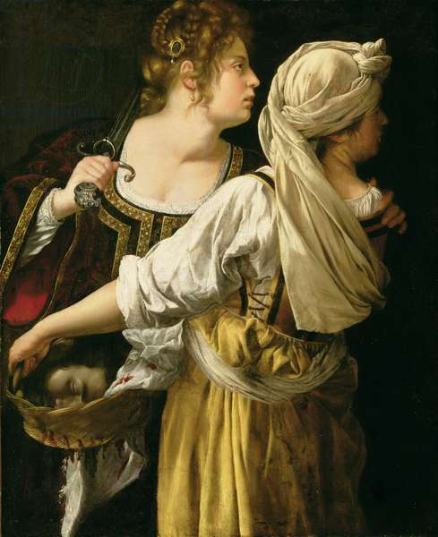 Judith and her Servant (oil on canvas)