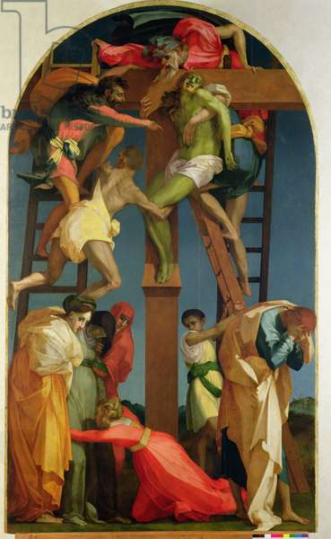The Descent from the Cross, 1521 (oil on panel) (for detail see 85136)