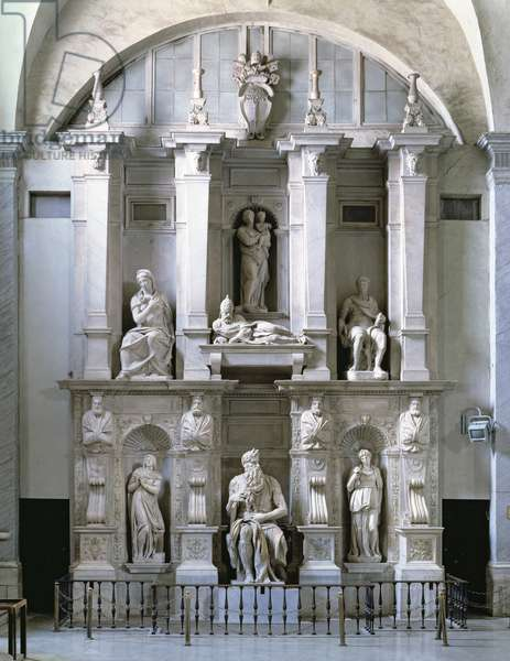Tomb of Pope Julius II (1453-1513) (marble)