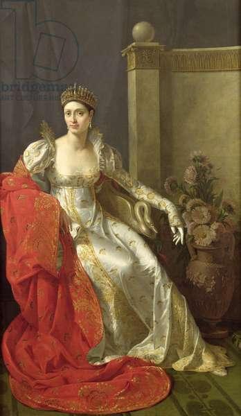 Elisa Bonaparte (1777-1820) Princess Bacciochi (oil on canvas)