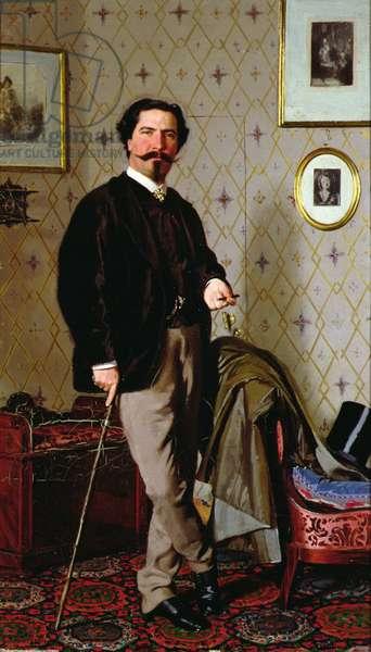 Portrait of Cristiano Banti (1824-1904) (oil on canvas)