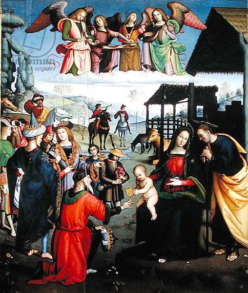 Adoration of the Magi, c.1505-08 (oil on panel)