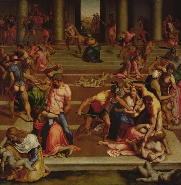 Massacre of the Innocents (tempera on panel)