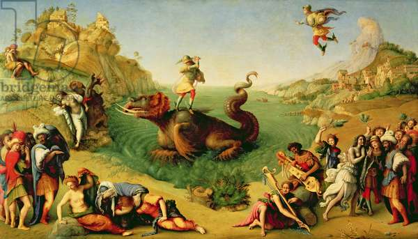 Perseus Rescuing Andromeda, c.1510-13 (oil canvas)