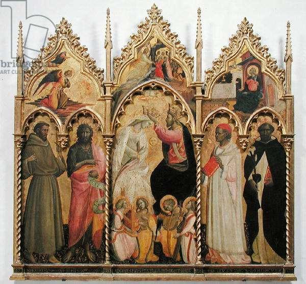 Coronation of the Virgin with Saints, c.1420 (tempera on panel)