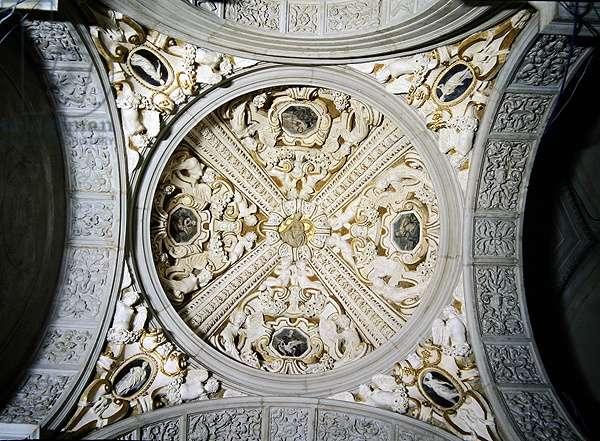 Detail of vaults in the Sansovino Gallery, Biblioteca Nazionale Marciana (stone)