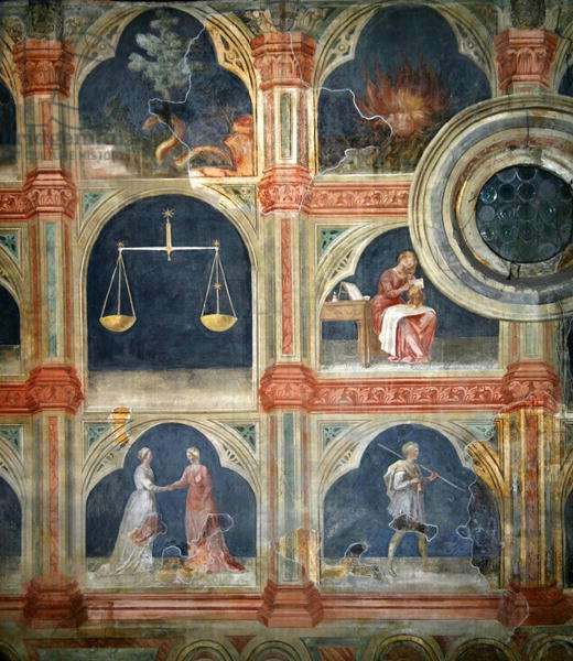 The Month of September, from a series of murals depicting the Astrological Cycle (fresco)