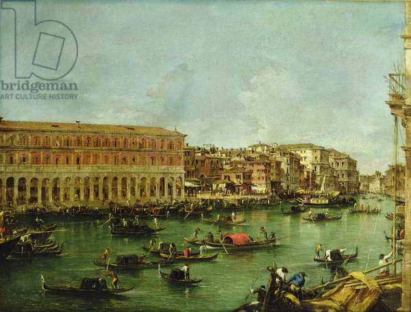 View of the Grand Canal, Venice, from the Rialto (oil on canvas)