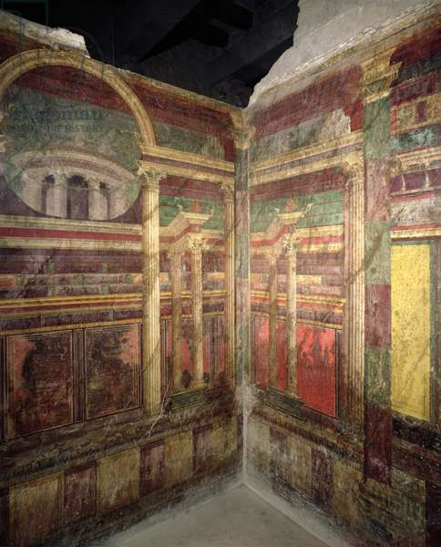 Different architectural perspectives, 90-15 BC (fresco)