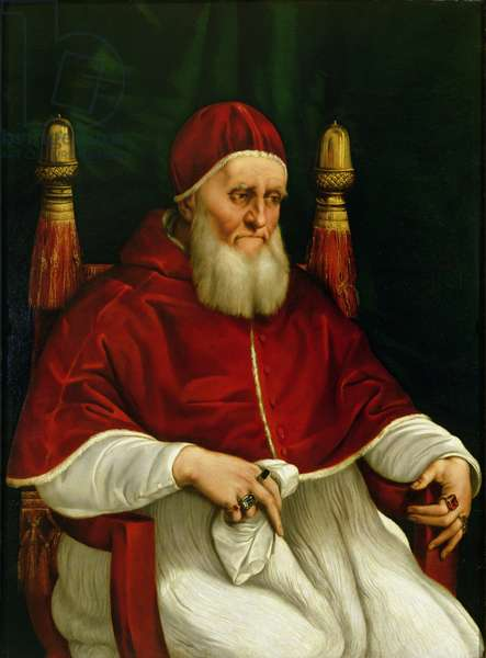 Portrait of Pope Julius II (1443-1513) c.1512 (oil on panel)