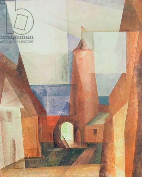 The Gruetzturm at Treptow, 1928 (oil on canvas)
