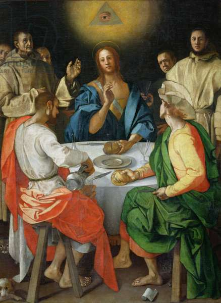 The Supper at Emmaus, 1525 (oil on panel)