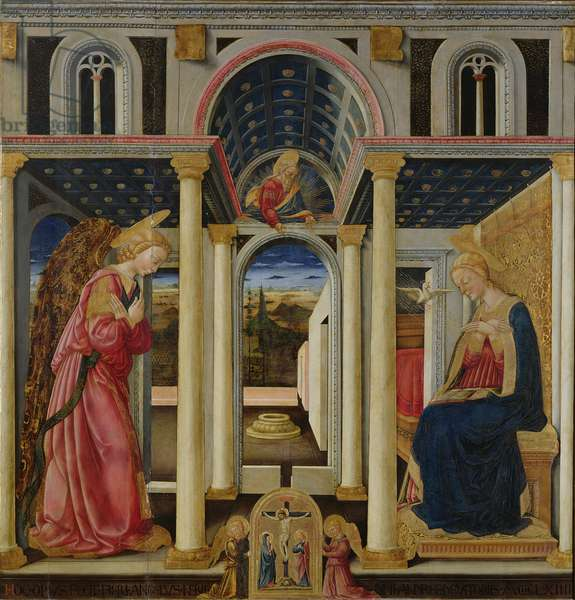 Annunciation, 1464 (tempera on panel)