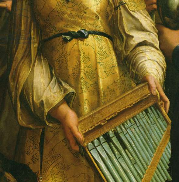 St. Cecilia surrounded by St. Paul, St. John the Evangelist, St. Augustine and Mary Magdalene, c.1513 (oil on panel) (detail of 182507)