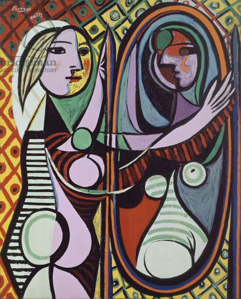 Girl before a mirror, 1932 (oil on canvas)