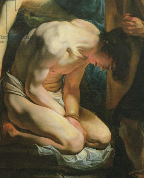 The Sacrifice of Isaac (oil on canvas) (detail of 329477)