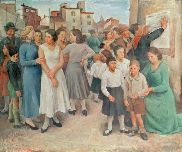 Day of the Rally, 1934 (oil on canvas)