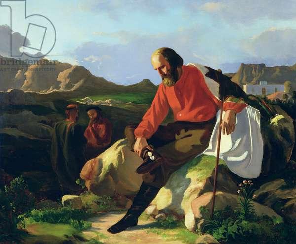 Guiseppe Garibaldi (1807-82) (oil on canvas)