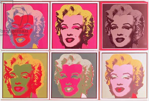 Marilyn, right hand side, 1964 (silk screen)