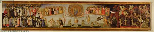 The Last Judgement, predella panel depicting Heaven and Hell, 1460-65 (tempera on panel)