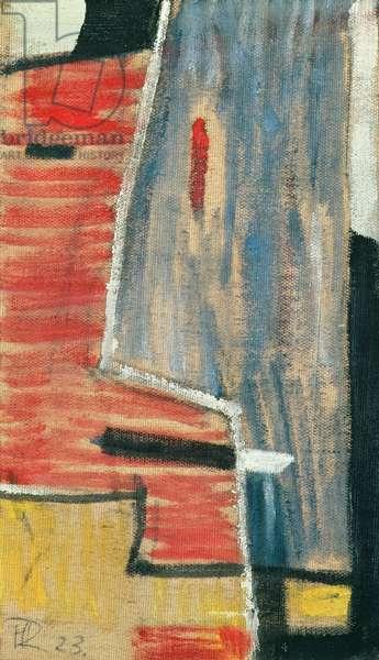 Dada Head, 1923 (oil on canvas mounted on wood)