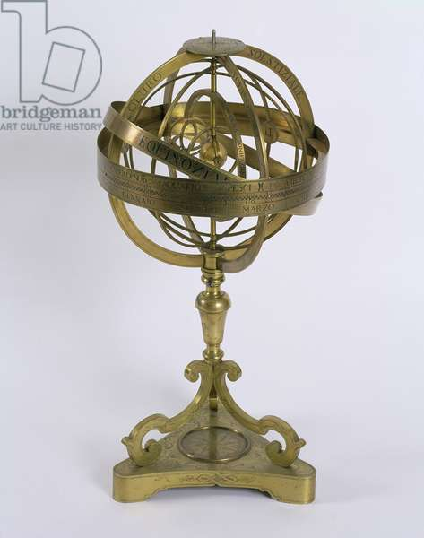 An Armillary Sphere of the Copernican system, 1764 (bronze)